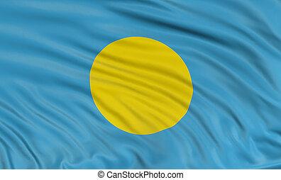 3D flag of Palau