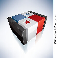 3D flag of Panama
