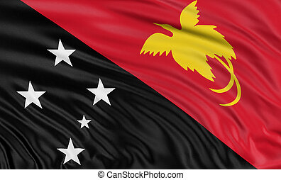 3D flag of Papua New Guinea