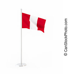 3D flag of Peru