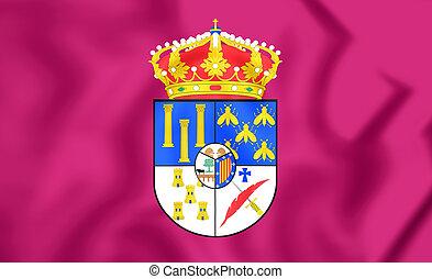 Flag of Salamanca Province, Spain.