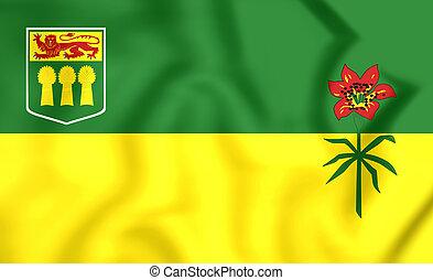 Flag of Saskatchewan Province, Canada. - 3D Flag of ...