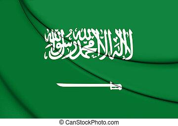 3D Flag of Saudi Arabia.