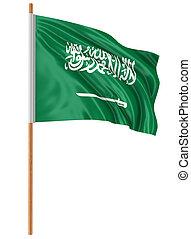 3D flag of Saudi Arabia