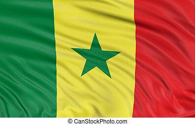 3D flag of Senegal