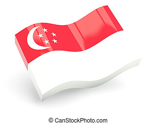 3d flag of singapore