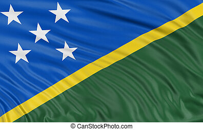 3D flag of Solomon Islands