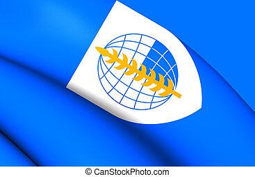 Flag of South East Asia Treaty Organization - 3D Flag of ...