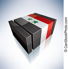 3D flag of Syria