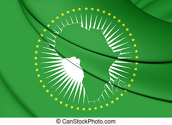 Flag of the African Union - 3D Flag of the African Union. ...