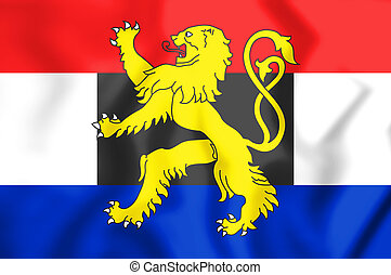 3D Flag of the Benelux. 3D Illustration.