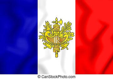 3D Flag of the France. 3D Illustration.