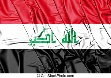 3D Flag of the Iraq. 3D Illustration.