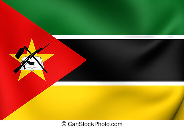 Flag of the Mozambique