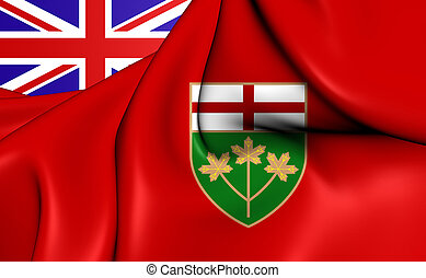 Flag of the Ontario, Canada.