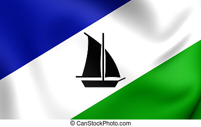 Flag of the Puerto Montt, Chile.