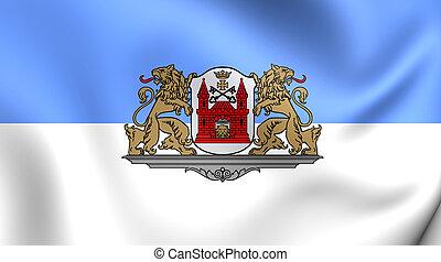 Flag of the Riga, Latvia.