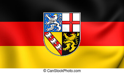 Flag of the Saarland, Germany.