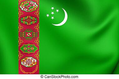 Flag of the Turkmenistan