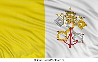 3D Flag of the Vatican City