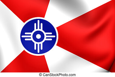 Flag of the Wichita, USA.