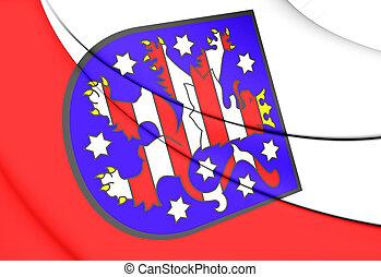 Flag of Thuringia, Germany.