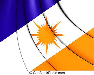 Flag of Tocantins, Brazil.