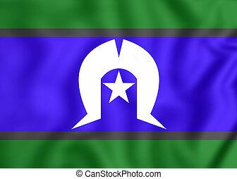 3D Flag of Torres Strait Islanders. Close Up.