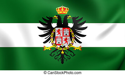 Flag of Tunja City, Colombia.