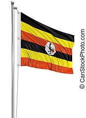 3D flag of Uganda