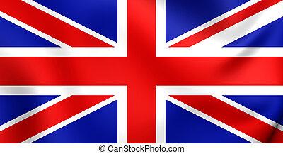 Flag of United Kingdom - 3D Flag of United Kingdom. Close...