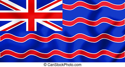 3D Flag of unofficial British Overseas Territories. 3D Illustration.