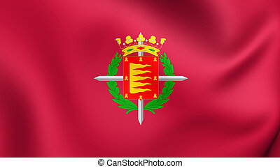 Flag of Valladolid City, Spain.