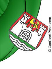 Flag of Wolfsburg City, Germany.