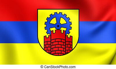 Flag of Zabrze City, Poland.