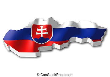 3D flag - Slovakia