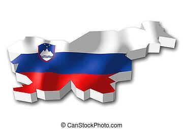 3D flag - Slovenia