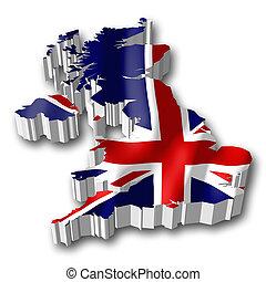 3D flag - United Kingdom