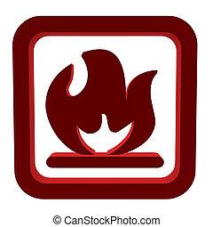 3D Flameable Symbol