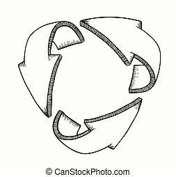 3d, flechas, symbolizing, protección
