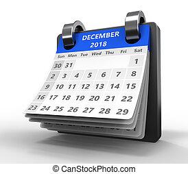 3d flip calendar