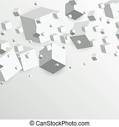 3d floating cubes boxes abstract background