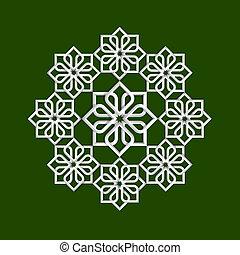 3d flower pattern in arabic style