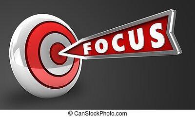 3d focus arrow