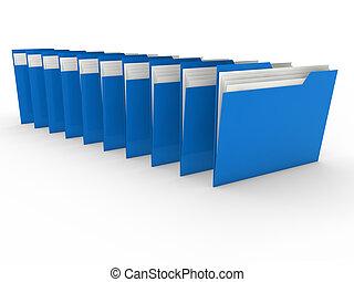 3d folder blue