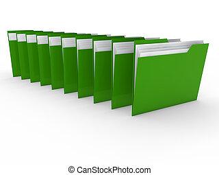 3d folder green
