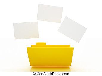 3D folder icon.
