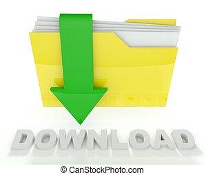 3d folder icon with arrow