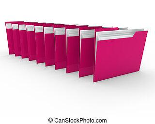 3d folder pink