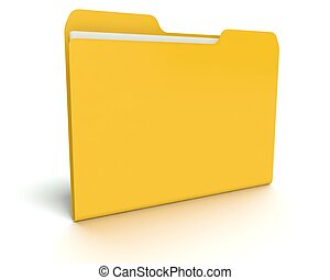 3D folder/file concept with white.